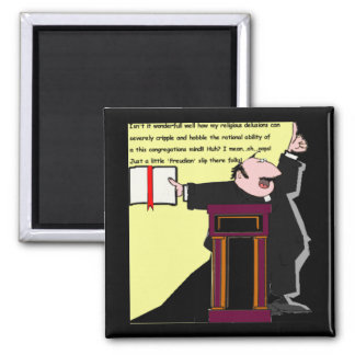 Oops!  Freudian Slip by the Preacher-funny Fridge Magnet