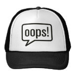Oops funny clothes mesh hat