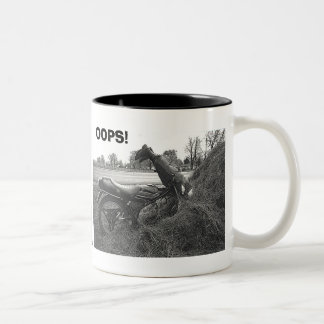 """OOPS!-FUNNY FAKE MOTORBIKE ACCIDENT"" MUG"