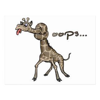 Oops... Giraffe Post Card