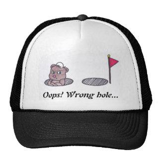 Oops gorra incorrecto del agujero