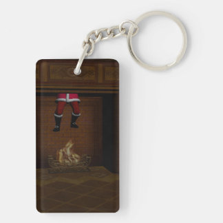 Oops - Hot Surprise For Santa Claus Keychain