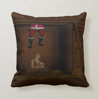 Oops - Hot Surprise For Santa Claus Throw Pillows