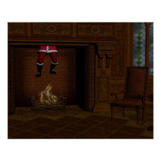 Oops - Hot Surprise For Santa Claus Poster