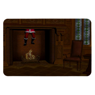 Oops - Hot Surprise For Santa Claus Rectangular Magnet