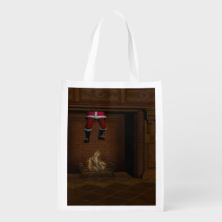 Oops - Hot Surprise For Santa Claus Reusable Grocery Bag