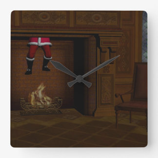 Oops - Hot Surprise For Santa Claus Square Wall Clock