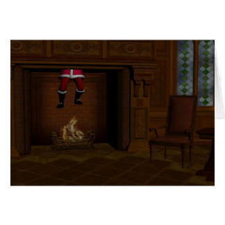 Oops - Hot Surprise For Santa Claus Stationery Note Card