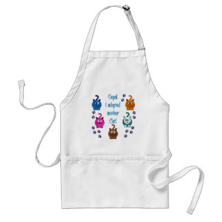 Oops!  I Adopted Another Cat! Adult Apron