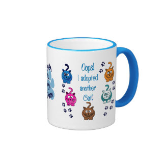 Oops!  I Adopted Another Cat! Ringer Coffee Mug