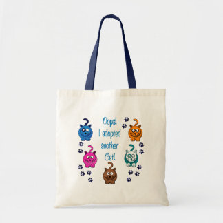 Oops!  I Adopted Another Cat! Tote Bag