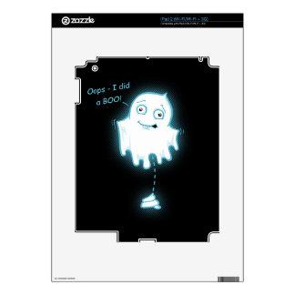 """""""Oops - I did a Boo!"""" Halloween Ghost iPad 2 Skin"""