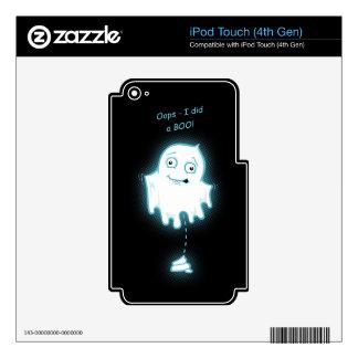"""Oops - I did a Boo"" Halloween/Ghost iPod Skin"