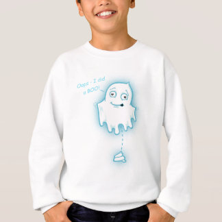 """Oops - I did a Boo"" Halloween Ghost Kids Sweater"