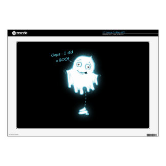 """""""Oops - I did a Boo!"""" Halloween Ghost Laptop Decal"""