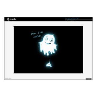 """Oops - I did a Boo"" Halloween/Ghost Laptop Skin"