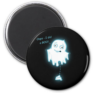 """Oops - I did a Boo"" Halloween/Ghost Magnet"