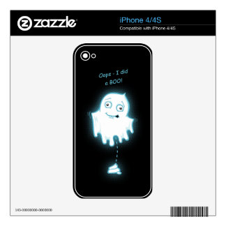 """Oops - I did a Boo"" Halloween/Ghost Skin iPhone 4S Skins"