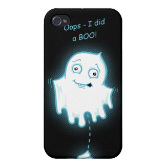 """Oops - I did a Boo"" Halloween IPhone 4 Case"