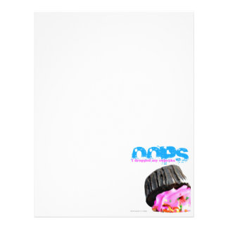 OOPS I dropped my cupcake Letterhead