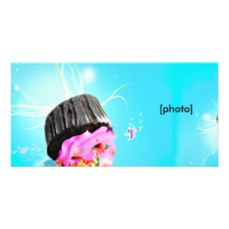 OOPS I dropped my cupcake Photo Card Template