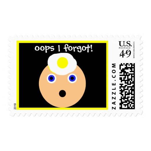 oops!  I forgot! Postage Stamps