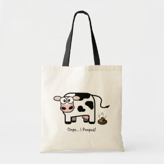 Oops I Pooped Funny Cow Tote Bag