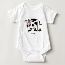 Oops I Pooped | Funny Pooping Cow Baby Bodysuit