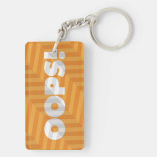 Oops! Keychain