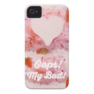 ¡Oops, lío de la fresa! iPhone 4 Case-Mate Carcasa