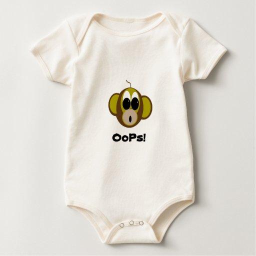 Oops mono trajes de bebé