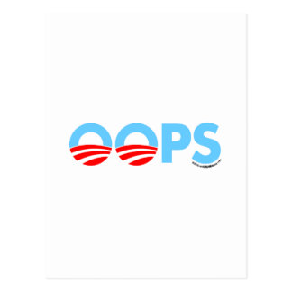 Oops Obama Mistake Postcard