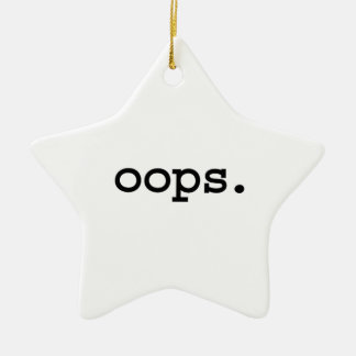 oops. christmas tree ornaments