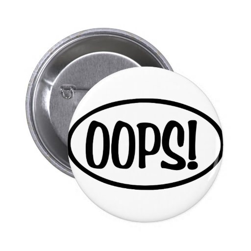 oops oval 2 inch round button