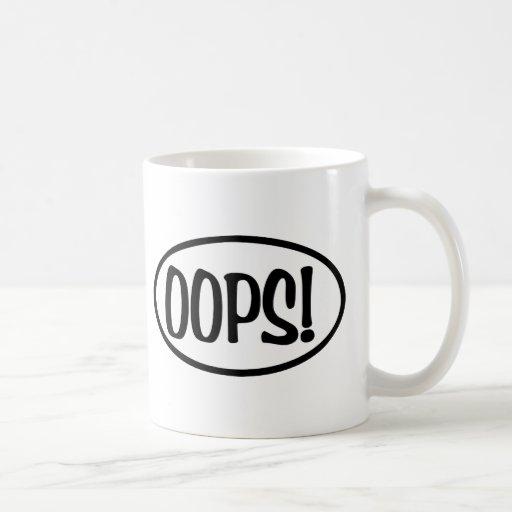 oops oval coffee mug