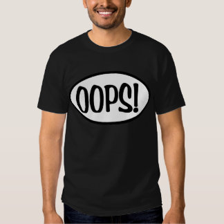 oops oval t-shirt