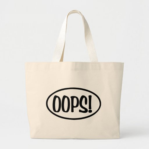 oops oval tote bags