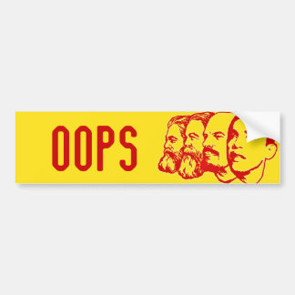 OOPS pegatina para el parachoques Pegatina Para Auto