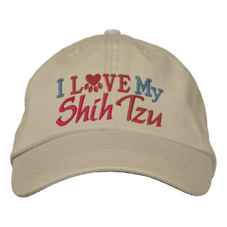 Oops - Revised Color - I Love My Dog Embroidered Baseball Cap