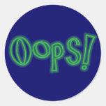 Oops! Runder Sticker