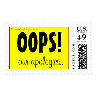 ¡ OOPS sello de nuestras disculpas