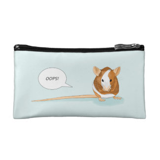 """Oops!"" Small Bagette Cosmetic Bag"