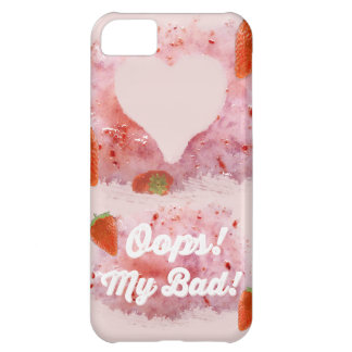 Oops, Strawberry Mess! iPhone 5C Covers