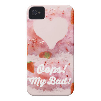 Oops, Strawberry Mess! iPhone 4 Case-Mate Case