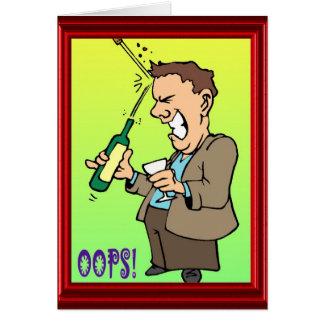 Oops - tarjeta del vino del chiste - divertido