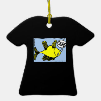 OOPS upside down fish funny cartoon gift Ornament