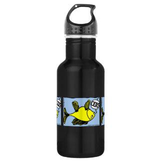 OOPS upside down fish funny cartoon Water Bottle