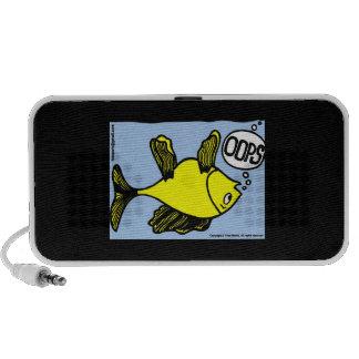OOPS upside down fish funny portable speaker