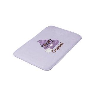 Oopsie Poop! Emoji Purple Bath Mat