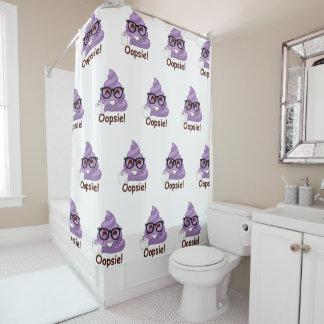 Oopsies Poopsies Funny Emoji Poop Shower Curtain